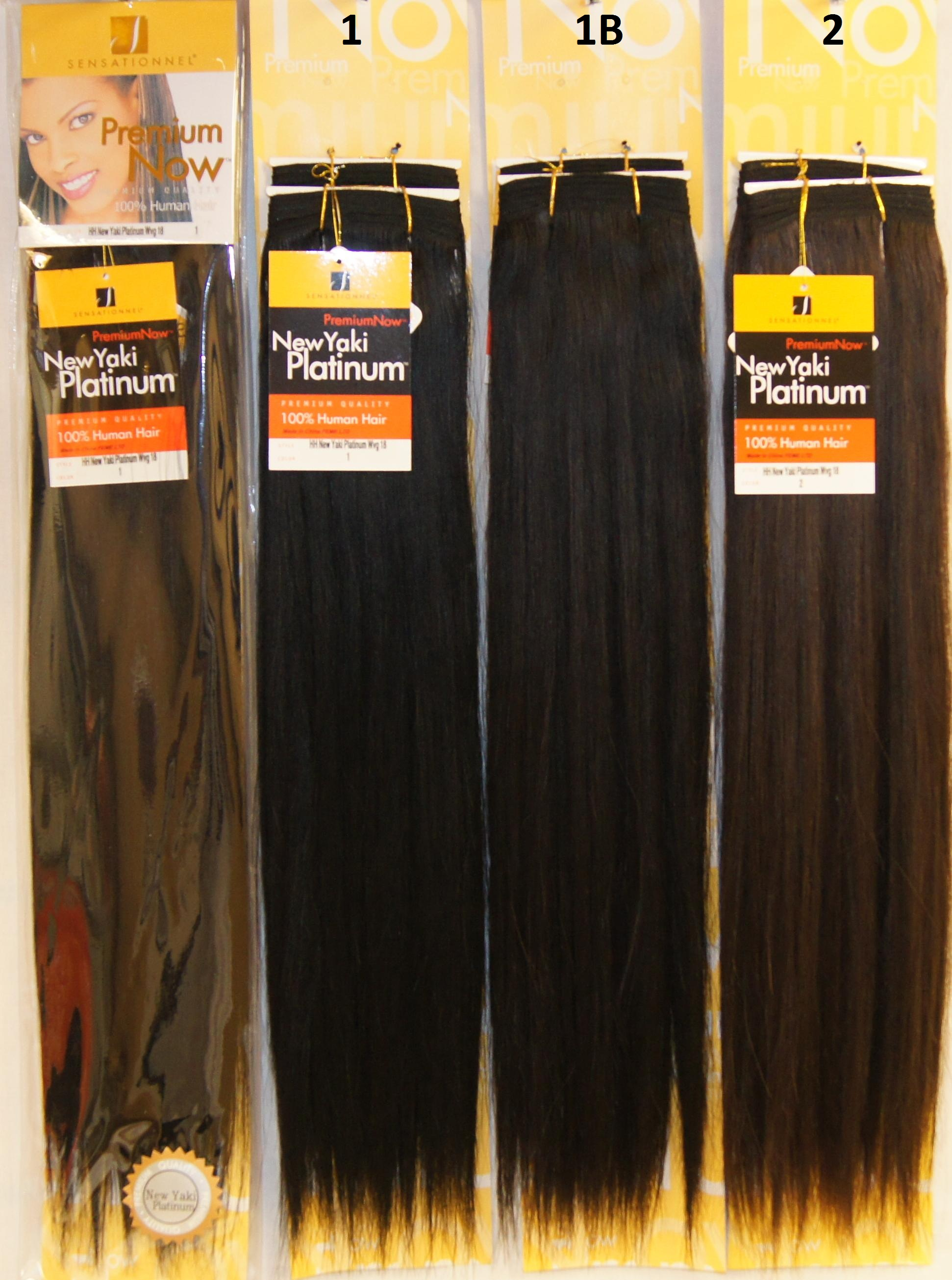 Sensationnel Premium Now 100 Human Hair New Yaki Platinum 115